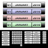 Calendar. For 2010 onwards. Available in jpeg and eps8 formats stock illustration