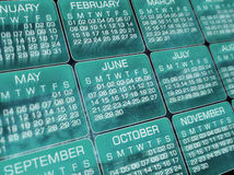 Calendar. Glowing  Calendar, clip-art, background Royalty Free Stock Photography