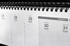 Calendar. Showing a week of the year stock photo