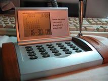 Calendar. Business tools: digital calendar, calculator, alarm clock and world time Royalty Free Stock Image