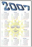 Calendar. 2007 solar cells PV calendar royalty free illustration