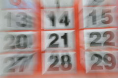 Calendar. Approach of long-awaited day Stock Photography