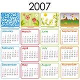 Calendar for 2007. 2007 year calendar with seasons illustration Stock Photos