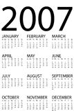 calendar 2007 Royalty Free Stock Images