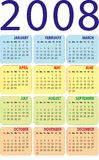 Calendar 2008. Vertical design. The additional format file (EPS Royalty Free Stock Image
