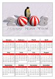 Calendar 2008. A calendar for the new year 2008 with a picture Royalty Free Stock Image