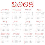 Calendar 2008 Stock Photography