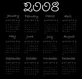 Calendar 2008 Royalty Free Stock Image