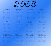Calendar 2008 Stock Photos