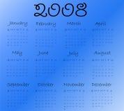 Calendar 2008. (blue end black Vector Illustration