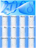Calendar 2008. Illustration of calendar for 2008. year Stock Photo