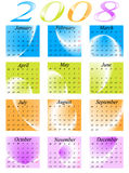 Calendar 2008. Illustration of calendar for 2008. year Royalty Free Stock Photography