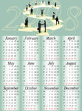 Calendar 2008. Illustration of calendar for 2008. year Royalty Free Stock Images