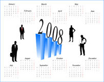 Calendar for 2008 year. Illustration of accurate calendar for 2008 year Royalty Free Stock Images