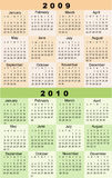 Calendar, 2009, 2010. Calendars, New Year 2009, 2010, planner Stock Photos