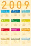 Calendar 2009. Colorful Calendar for 2009 in warm tones Royalty Free Stock Image