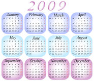 Calendar 2009. Illustration of calendar for 2009. year stock illustration