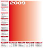 Calendar 2009. Calendar for 2009. Numbers within a grid. Laid around the space for a picture vector illustration