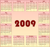 Calendar 2009 Royalty Free Stock Image