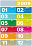 Calendar 2009. Colorful Calendar for 2009. with space reserved for logo Stock Photos