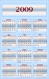 Calendar 2009. Illustration of calendar for 2009 year Stock Illustration