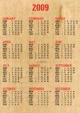 Calendar 2009 Royalty Free Stock Photos