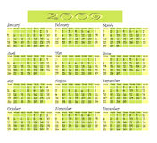 Calendar 2009. Royalty Free Stock Image