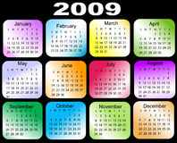 Calendar 2009. Calendars, New Year 2009,on black background Royalty Free Stock Images