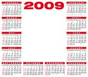 Calendar 2009. Calendar for 2009 with space for a picture or logo in the center royalty free illustration