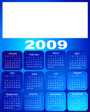 Calendar, 2009. Months on blue Stock Images