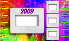 Calendar for 2009. Calendar 2009 for psychodelic background Royalty Free Stock Photos