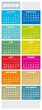 Calendar 2009. Colorful Calendar for 2009. vertical design Stock Illustration
