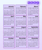 Calendar 2009. Illustration of calendar for 2009 year Stock Images
