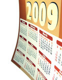 Calendar 2009. Illustration of a calendar for 2009 stock illustration