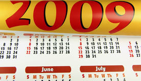 Calendar 2009. Illustration of a calendar for 2009 royalty free illustration