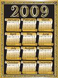 Calendar 2009. Vector illustration for Calendar 2009 Royalty Free Stock Images