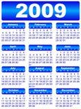 Calendar for 2009. Blue frames stock illustration