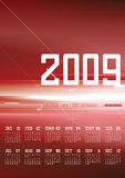 Calendar 2009. On abstract background royalty free illustration