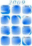 Calendar for 2009. year. Illustration of calendar for 2009. year Stock Image