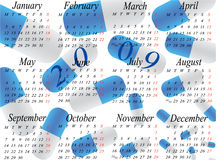 Calendar for 2009. year. Illustration of calendar for 2009. year stock illustration