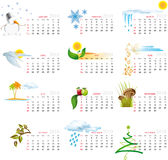 Calendar 2010. Vector Calendar for 2010 with graphic elements Stock Photos