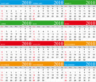 Calendar 2010. Vector Calendar for 2010 with graphic elements stock illustration