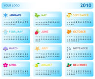 Calendar for 2010. Template modern business calendar for 2010 Stock Photo