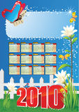 Calendar 2010. Calendar year 2010 and ground work royalty free illustration