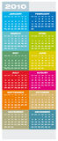 Calendar 2010. Colorful Calendar for year 2010 in vector format Stock Photo