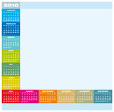 Calendar 2010. Colorful Calendar for year 2010 in vector format Royalty Free Stock Photos