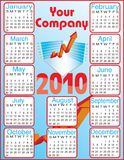 Calendar 2010. Vector illustration for Calendar 2010. Text Your company is on a new Layer, easy to remove Stock Photos