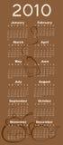 Calendar for 2010. Vector Illustration of tea style design Calendar for 2010 Stock Photo