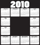 Calendar for 2010. Vector Illustration of style design black and white Calendar for 2010 royalty free illustration