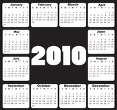 Calendar for 2010. Vector Illustration of style design black and white Calendar for 2010 stock illustration